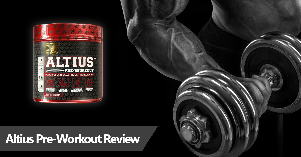 Review of Altius pre-workout supplement
